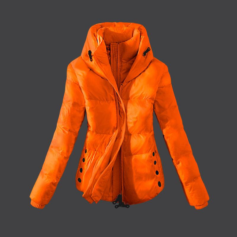 Popular Women Down Coats enfold collar string band at cuffs double layer winter coats 100% goose down light warm S-XL