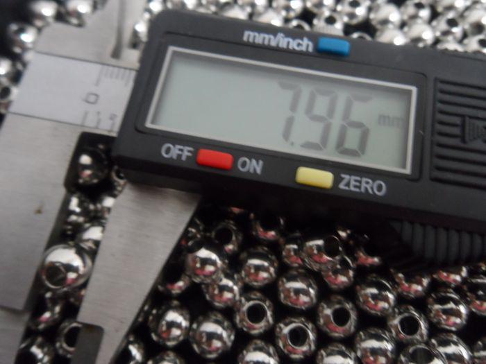 4mm / 6mm / 8mm perlas de acero inoxidable brillante Joyería encontrar DIY 100 UNIDS ENVÍO GRATIS