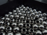 Wholesale 4mm mm mm shiny stainless steel beads Jewelry finding DIY FREE SHIP