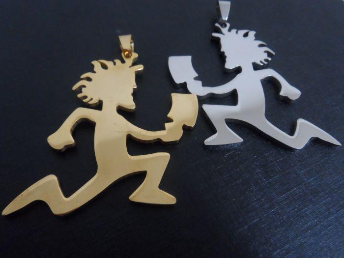 الذهب / الفضة أعلى جودة كبيرة ICP HATCHETMAN سحر الفولاذ المقاوم للصدأ مجوهرات الأحقاد الرجال نمط