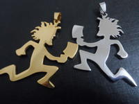 Wholesale Icp Hatchetman Necklace - Gold silver Top Quality large ICP HATCHETMAN charms stainless steel jewelry hatchet men style