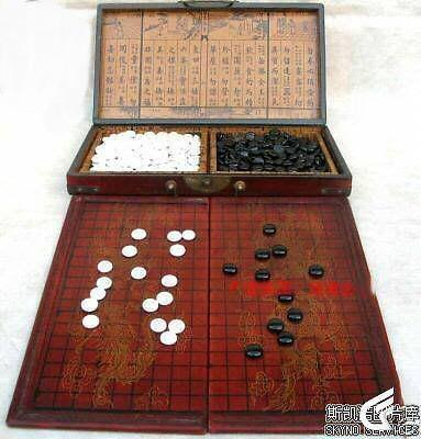 Wholesale Cheap Chinese Go Game Set Leather Box Goban Board And Adorable Game With Stones And Wooden Board