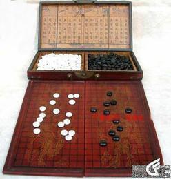 jogos de xadrez madeira Desconto Chinês barato por atacado vai jogo de couro Goban Board Box e pedras
