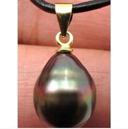 Neue Feine Perle Schmuck Riesige 18mm tahitian k schwarz perle anhänger 14 karat 18 ZOLL