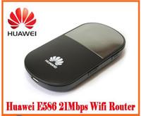 Wholesale huawei wifi modems - Original Huawei E586 Wireless Unlocked Wifi 3G Mobile Modem 3G wifi Wireless Router
