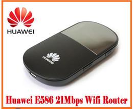 Wholesale Huawei Wifi Modem Unlocked - Original Huawei E586 Wireless Unlocked Wifi 3G Mobile Modem 3G wifi Wireless Router