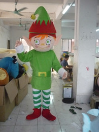 Wholesale Boys Fancy Dress Years - 2013 New Adult Size Christmas Elf boy Mascot Costume Fancy Dress Party Complete Outfit