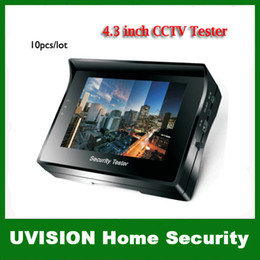 """Wholesale Security Cameras Test Monitor - 4.3"""" inch TFT Color LCD Monitor CCTV Security CCD Camera Video Test Tester 12V OUTPUT 10pcs lot Free shipping"""