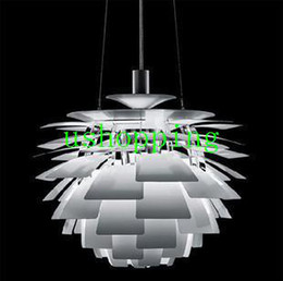 Wholesale Chandelier Artichokes - Free shipping 38CM Poul Henningsen PH Artichoke Pendant Light Modern Aluminum Lamp PL067