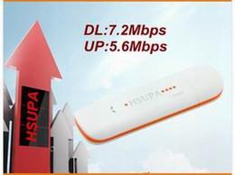 Wholesale Huawei 3g Dongle - Hot selling Unlocked Wireless 3G Modem Dongle 7.2Mbps HSDPA USB DataCard Similar to Huawei E1750