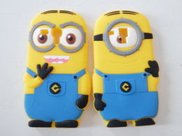 Wholesale Minions S3 - 3D cute carton minions phone covers Soft Rubber silicon case for Samsung Galaxy S3 mini I8190 Free DHL Shipping 100pcs lot