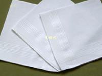 Wholesale Cheap Handkerchief Cotton - free shipping cheap 20pcs lots men's handkerchief white 100% cotton men's hanky pocket squares white handkerchief mens