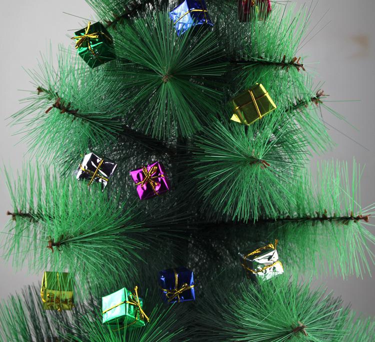 Navidad decoración festiva apoyos moda regalos de Navidad y decorativa pequeña caja cuadrada caja de regalo adorno del árbol de navidad 12 unids / set SD10