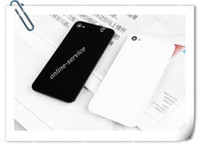 4s caixa de bateria de vidro traseira venda por atacado-Parte traseira da tampa traseira da porta da carcaça da bateria do vidro traseiro para o iPhone 4 4S