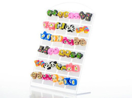 Wholesale Polymer Clay Cute - Cute Polymer Clay Earrings Stud Earring Cute Cartoon Accessories Children's Earring Fashion Stud Earrings 48pairs [JE03018*2]