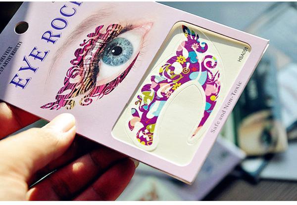 Сумасшедший временные татуировки наклейки девушки партии мгновенный тени для век наклейки красочные глаз рок 5618