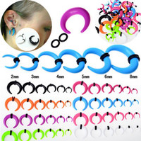 Wholesale 8mm Plugs Tunnels - Mix Lot 120Pcs Gauge Acrylic Taper Horn Ear Expander Stretcher Ear Tunnel Plugs 2-8mm Unisex Jewelry [BC101(12)*10]