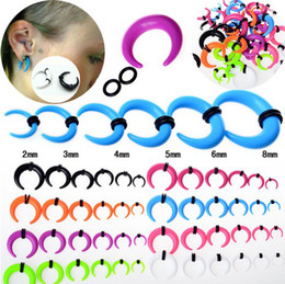 Wholesale Ear Stretchers Tunnels - Mix Lot 120Pcs Gauge Acrylic Taper Horn Ear Expander Stretcher Ear Tunnel Plugs 2-8mm Unisex Jewelry [BC101(12)*10]