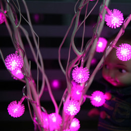 Wholesale Pure Restaurant - LED string lights 25 branches hairy ball Wishing Tree restaurant decor home decor