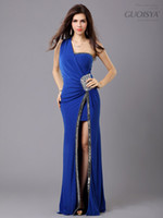 Wholesale One Sleeve Sequin - New Arrival Formal colorful Prom Gown Beaded Long 3 colores Evening Dresses 4 size S-M-L-XL