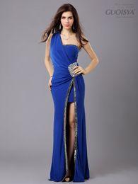 4e149a5ee Nueva llegada Formal colorido vestido de fiesta con cuentas largas 3  colores Vestidos de noche 4 tamaño S-M-L-XL