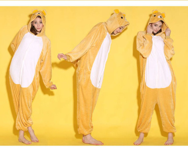 Cartoon Animal Rilakkuma Bear Unisex Adult Onesies Onesie Pajamas Kigurumi Jumpsuit Hoodies Sleepwear For Adults Welcome Wholesale Order