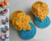 Wholesale Cheap Crochet Baby Boots - 15%off!Crochet Crochet flower sandals, 9 10 11cm toddler shoes,baby snow boots,hand-woven cheap shoes,walker cotton yarn shoes!8pairs 16pcs