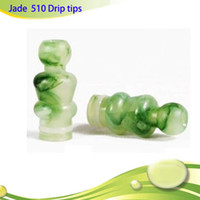 Wholesale Green Jade Pieces - Drip tips 510 mouth piece jade green emerald mouthpiece with for vivinova DCT protank e cigarettes plastic tank H2 MT3 EVOD DHL free