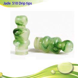 Wholesale Drip Vivinova - Drip tips 510 mouth piece jade green emerald mouthpiece with for vivinova DCT protank e cigarettes plastic tank H2 MT3 EVOD DHL free