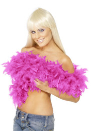 $enCountryForm.capitalKeyWord UK - Pink Chandelle Feather Boa 200cm pcs Wrap Burlesque Can Can Saloon Sexy Costume Accessory Turkey Marabou Feather Boa Many Colors Available