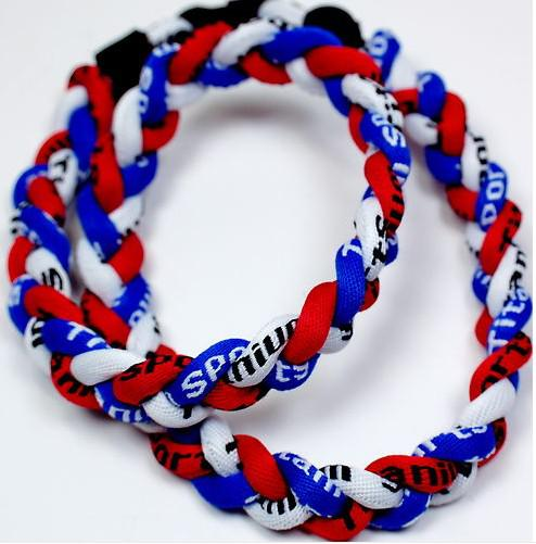 "outdoor Sports Tornado team necklaces titanium braid 3 ropes school man body jewelry woman fashion jewelry Necklace size 18"" 20"" 22"""