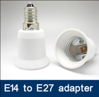 Wholesale E14 Adaptors - 100 lot SES to ES adapter LED Light Lamp E14 to E27 lamp holder adaptor E27 ES to E14 SES converter adapter socket adapter