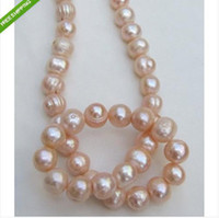 Wholesale Pearl Necklace 14kg - New Fine Pearl Jewelry 11-13mm SOUTH SEA PINK KASUMI PEARL NECKLACE 20INCHES 14KG CLASP