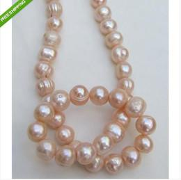 New Fine Pearl Jewelry 11-13mm SOUTH SEA PINK KASUMI PEARL NECKLACE 20INCHES 14KG CLASP