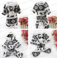 Wholesale Dogs Jumpsuit Fleece - (In stock)Cute Dog Jumpsuits Soft Polar Fleece For Pet Coat Hoodie Winter Clothes(Brown+Black)Wholesale Or Retail,Free Shipping