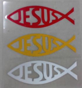 Wholesale NEW /set JESUS vinyl decals stickers car window stickers