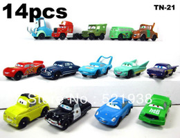 Wholesale Free Shipping Gift Kids - Pixar Car Figures Full Set PVC NEW 1 set=14 pcs Free shipping High Quality for Gift