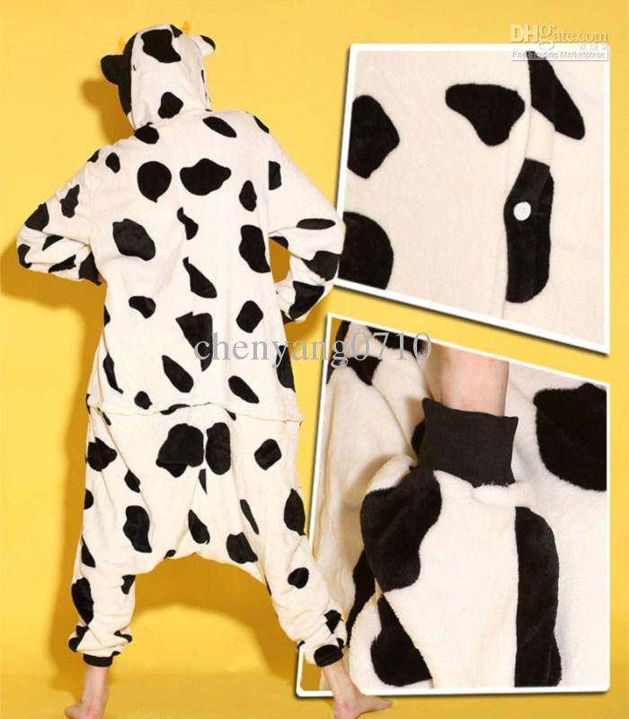 Tecknade djurko Vuxna Onesiesie Pyjamas Kigurumi Jumpsuit Hoodies Sleepwear för vuxna Välkommen Partihandel Order