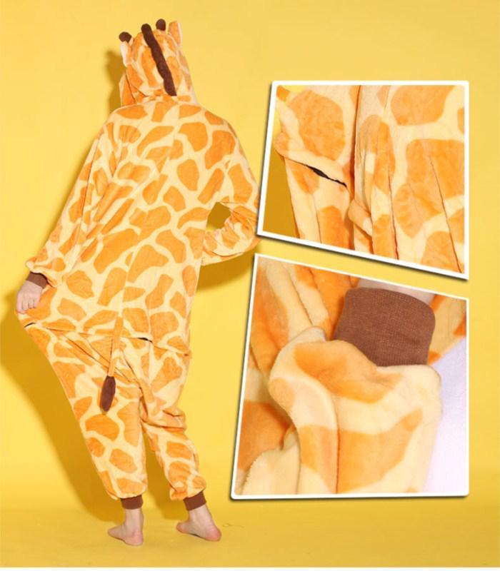 Unisex de dibujos animados de animales jirafa adultos Onesies Onesie pijamas Kigurumi Jumpsuit Hoodies ropa de dormir para adultos Bienvenido orden por mayor