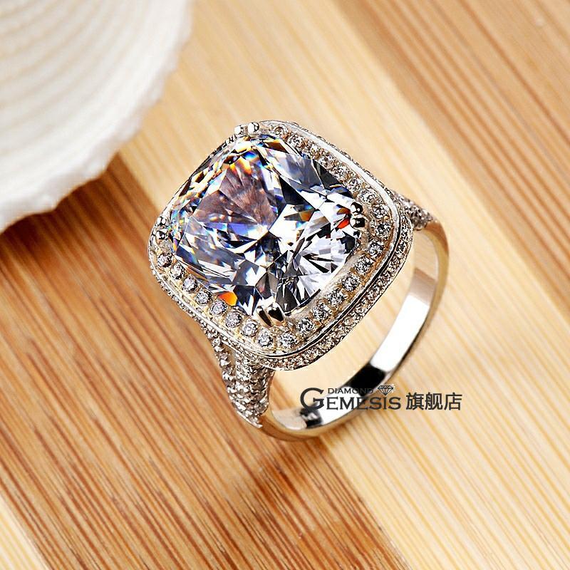 Gemesis 8 Diamond Ring Big Diamond Ring Full Diamond Wedding Ring