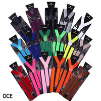 ingrosso gli uomini stampano le bretelle-DCE * 1 Moda Uomo Donna Bretelle Stampa leopardo Punk Rock Carino Sottile Regolabile Bretelle strette Blet 9 Colori tra cui scegliere