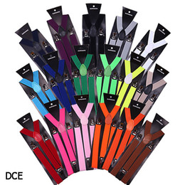 DCE*1 Fashion Men Women Suspenders Leopard Print Punk Rock Cute Slim Adjustable Tight Braces Blet 9 Colors To Choose from mens skinny trousers manufacturers
