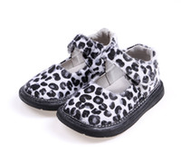 Wholesale Hot Pink Mary Jane Shoes - leopard girls shoes baby shoes mary jane little kids shoes flat sole nonslip fashionable clearance sale discount cheap hot SandQ baby