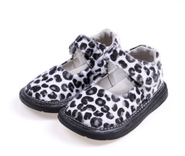 Wholesale Leopard Print Baby Shoes - leopard girls shoes baby shoes mary jane little kids shoes flat sole nonslip fashionable clearance sale discount cheap hot SandQ baby