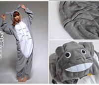 Wholesale Totoro Flannel - Jappan Cartoon Animal Totoro Unisex Adult Flannel Onesies Pajamas Kigurumi Jumpsuit Hoodies Sleepwear For Adults Welcome Wholesale Order