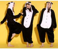 tier-pyjamas tragen großhandel-Tier Bär Unisex Erwachsene Flanell Onesies Pyjamas Kigurumi Overall Hoodies Nachtwäsche Cosplay Für Erwachsene Willkommen Großhandel Auftrag