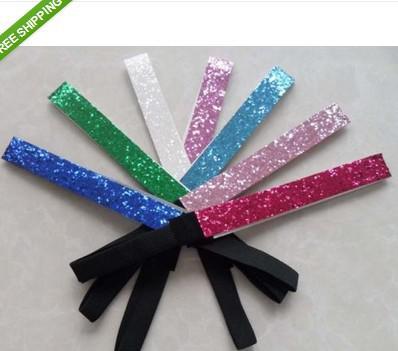 Venta al por mayor Glittery diadema Glitter Stretch Sparkly Softball deportes diadema