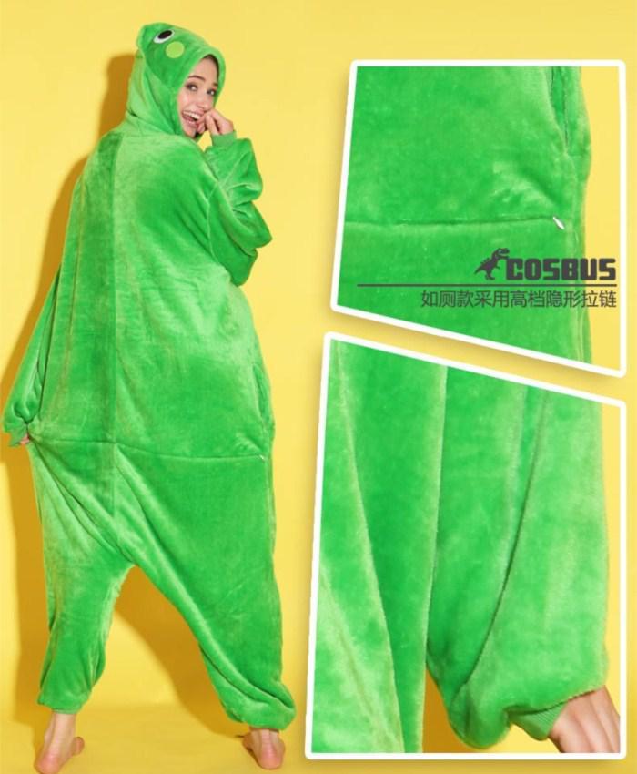 Animal Love Frog Unisex Adult Flannel Onesies Pajamas Kigurumi Jumpsuit Hoodies Sleepwear Cosplay For Adults Welcome Wholesale Order