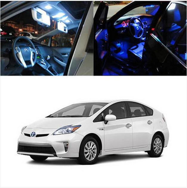 Frete Grátis 6 x 5050 SMD Full LED Luzes Interiores Pacote de Negócio Para 2010 Up Toyota Prius Híbrido