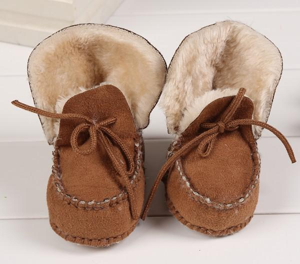 Big Discount Winter Baby Walking Shoes Infant First Walking Leather Boots Children's Boot Baby 100% Handmade Shoes 0-1T,3Colors for choose
